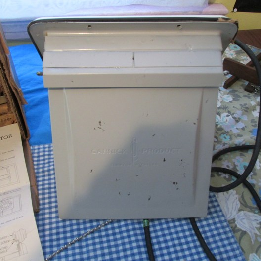 VINTAGE 1940s HOMART VENTROLA 8 INCH MODEL 80 NEW OLD STOCK KITCHEN EXHAUST  FAN WITH ORIGINAL BOX AND INSTRUCTIONS